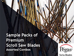 Sample Packs of Pegas Scroll Saw Blades