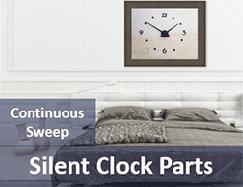 Silent clock parts quartz
