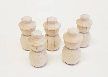 Small wooden snowmen | Bear Woods Supply