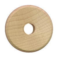 Smooth toy wheel wooden
