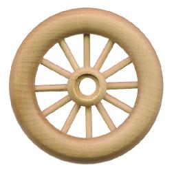 Spoked wheel with axle peg