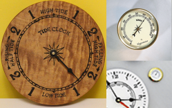 Tide clock movements and weather inserts
