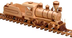 Old 99 Locomotive and Tender Woodworking Pattern | Bear Woods Supply