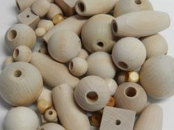 unfinished wood beads