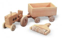 Buy this wooden tractor and trailer farm vehicle pattern | Bear Woods Supply