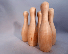 Wooden Bowling Pins Large   Bear Woods Supply