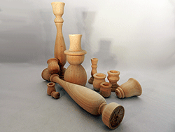 Wooden craft supplies on sale.