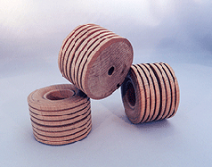 Treaded Wood Wheels 2-1/2 inch | Bear Wood Supply