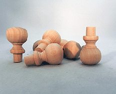 Wooden Finials  7/8 inch | Bear Woods Supply