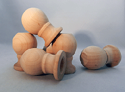 Wooden Finials  1-7/8 inch | Bear Woods Supply