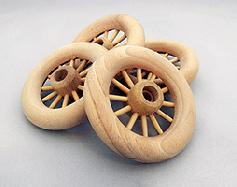 Wooden Spoked Wheels 3-1/2 inch | Bear Wood Supply