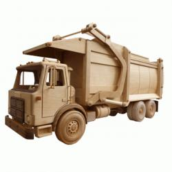 Wooden Patterns, The garbage truck toy pattern | Bear Woods Supply