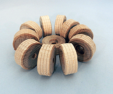 Treaded Wood Wheels 1-1/4 inch | Bear Wood Supply