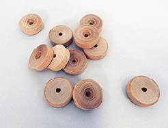 Treaded Wood Wheels 1-1/2 inch | Bear Wood Supply