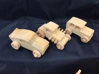 Wooden wheels and axles for kids toys