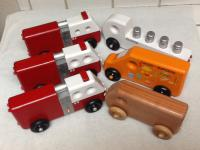 Wes Coglan makes wooden toys for kids from Bear Woods Supply parts