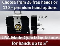 Quartz clock replacement parts