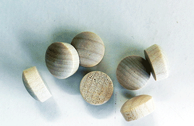 Buy Birch Round head Wood Plugs with Tapered Sides | Bear Woods Supply