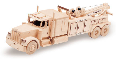 Tow Truck 27inch Woodworking Plan