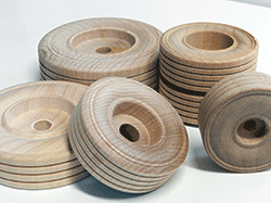Buy wood treaded wheels for wooden model trucks | Bear Woods Supply