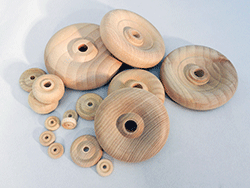 Contoured Wooden Wheels TW | Bear Woods Supply