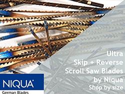 Ultra Reverse plus skip tooth scroll saw blades FDUR   Bear Woods Supply