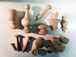 Wood finials, wooden knobs, turned wood parts | Bear Woods Supply