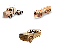 trucks and semi tractors woodworking patterns | Bear Woods Supply