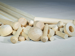 Wooden axle pegs and dowel caps for models
