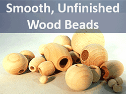 Unfinished wooden beads