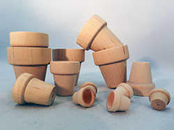 Wooden Flower Pots | Bear Woods Supply