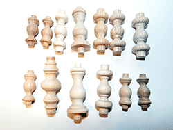 Buy wooden gallery spindles in oak, maple walnut | Bear Woods Supply
