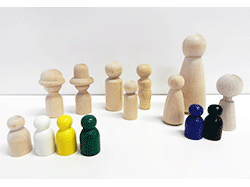 Buy wooden game pawns and little wooden people | Bear Woods Supply