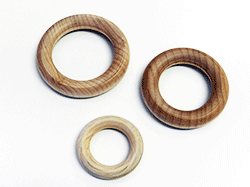 Wooden Rings made in the USA of Smooth Maple | Bear Woods Supply