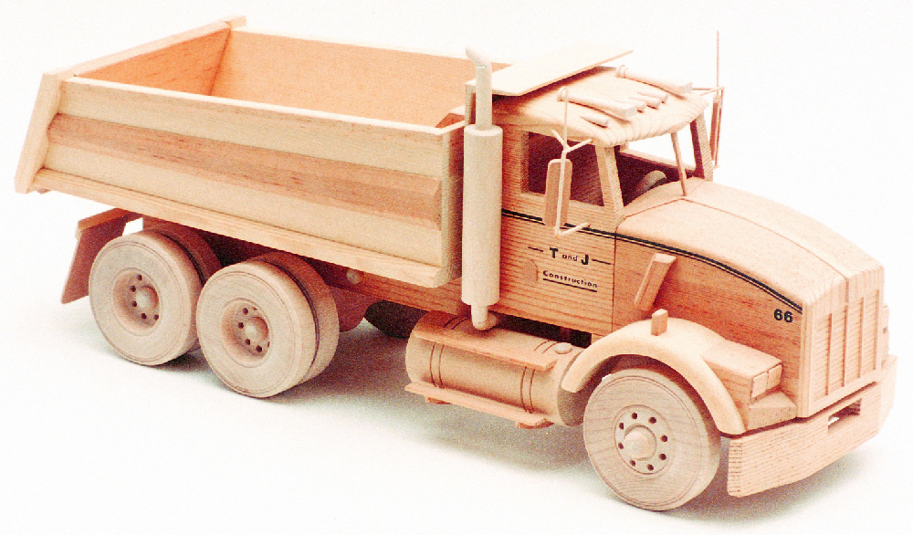Wooden Trucks Toys And Joys : Kenworth dump truck quot woodworking patterns
