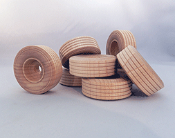 Treaded Wood Wheels 2 inch | Bear Wood Supply