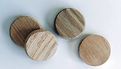 Tapered Side Grain Oak Stair Plugs | Bear Woods Supply